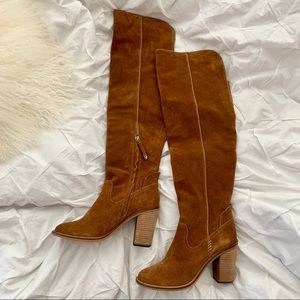 New Dolce Vita brown suede knee high boots 5.5/6